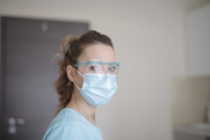 Dentist accommodating at-risk patients
